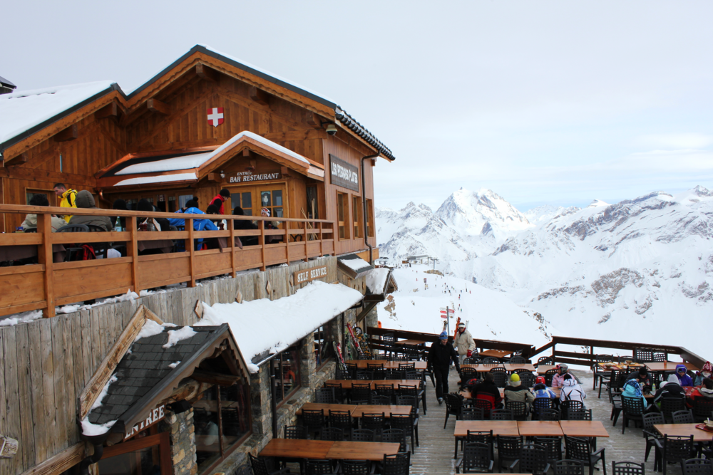 Lunch with a view - Meribel, French Alps
