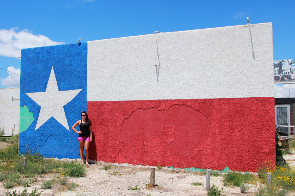 Texas State Flag Fort Stockton, Texas