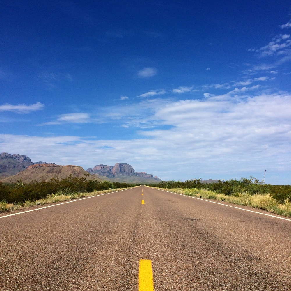 Leaving Big Bend National Park, Texas