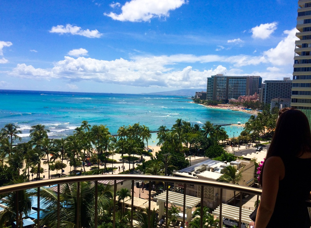 View from the Balcony of the Marriott Hotel in Waikiki, O'ahu