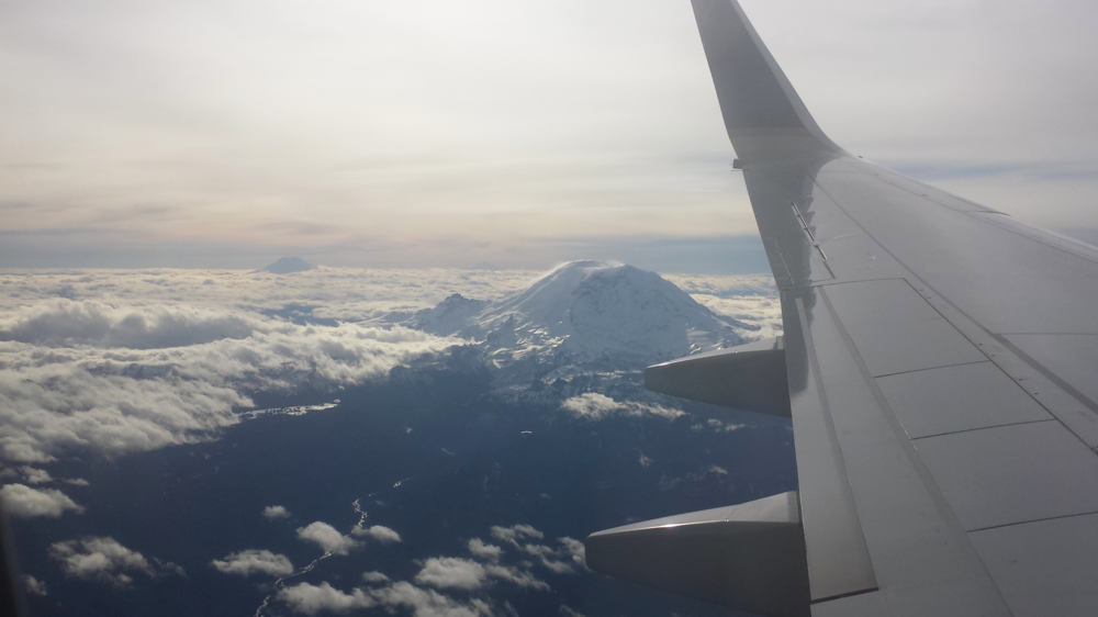 The view flying into Seattle