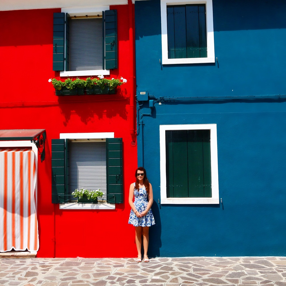 The houses on Burano Island