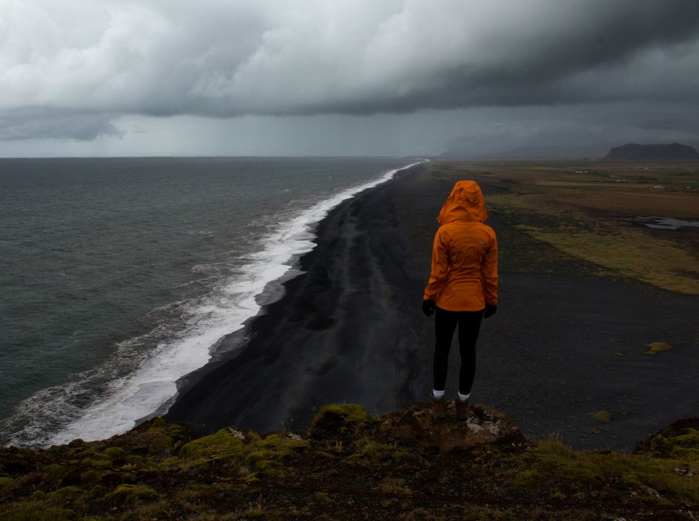 Black Sand Beach Cliffs, Iceland