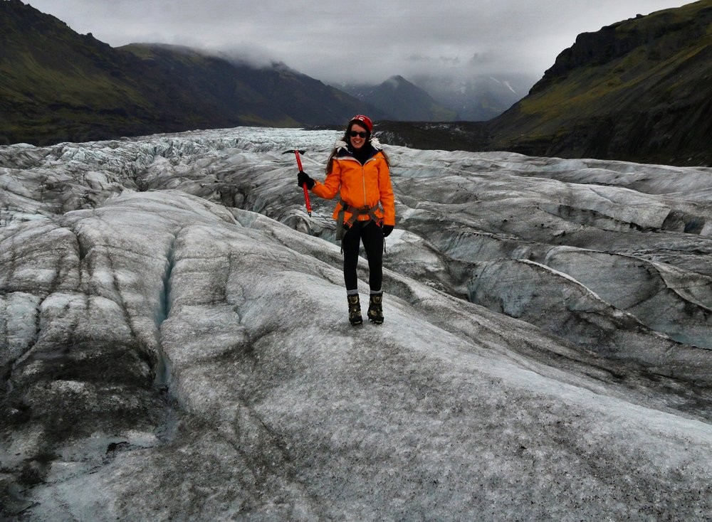 Don't know who thought it was a good idea to give me a ice pick! Svínafellsjökull glacier, Iceland