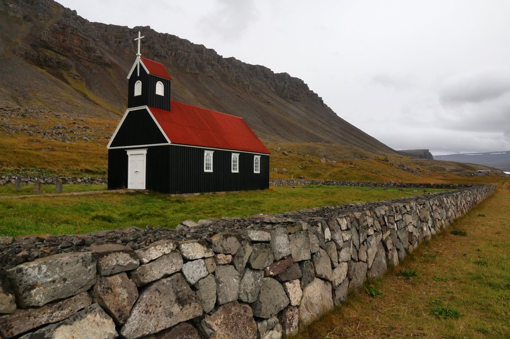 Black Church in the West Fjords, Iceland