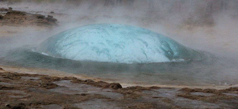 Haukadalur Erupting Geyser, Iceland