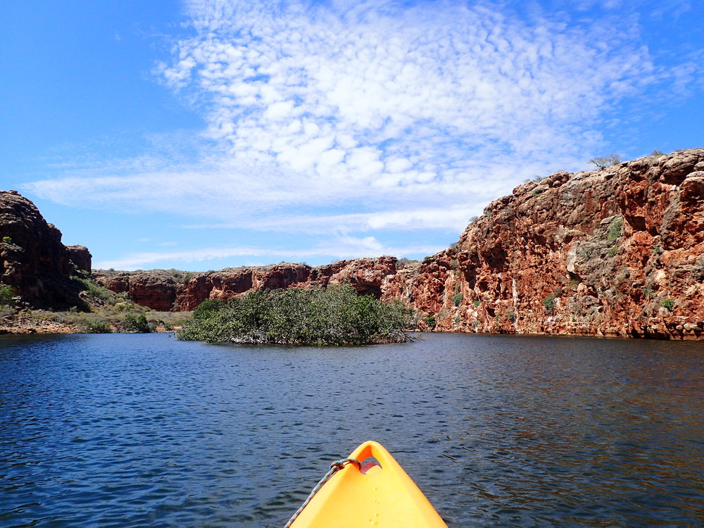 Kayaking Yardie Creek - Western Australia