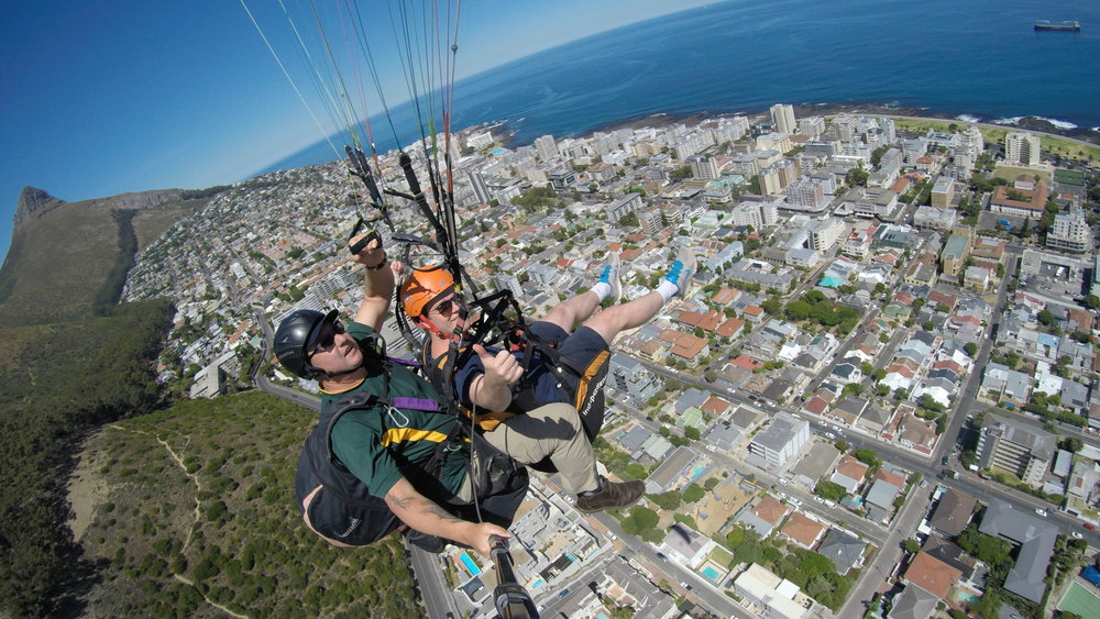 Paragliding off Signal Hill - South Africa