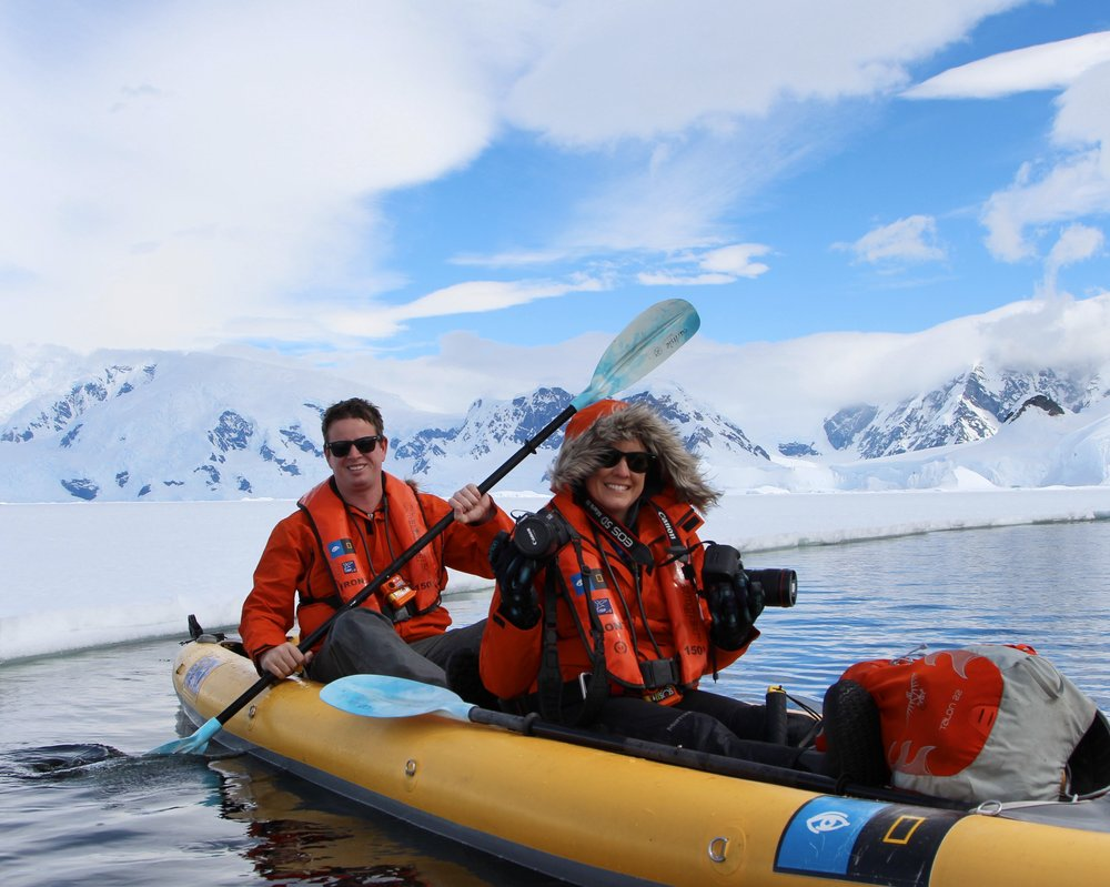 Kayaking in Antartica