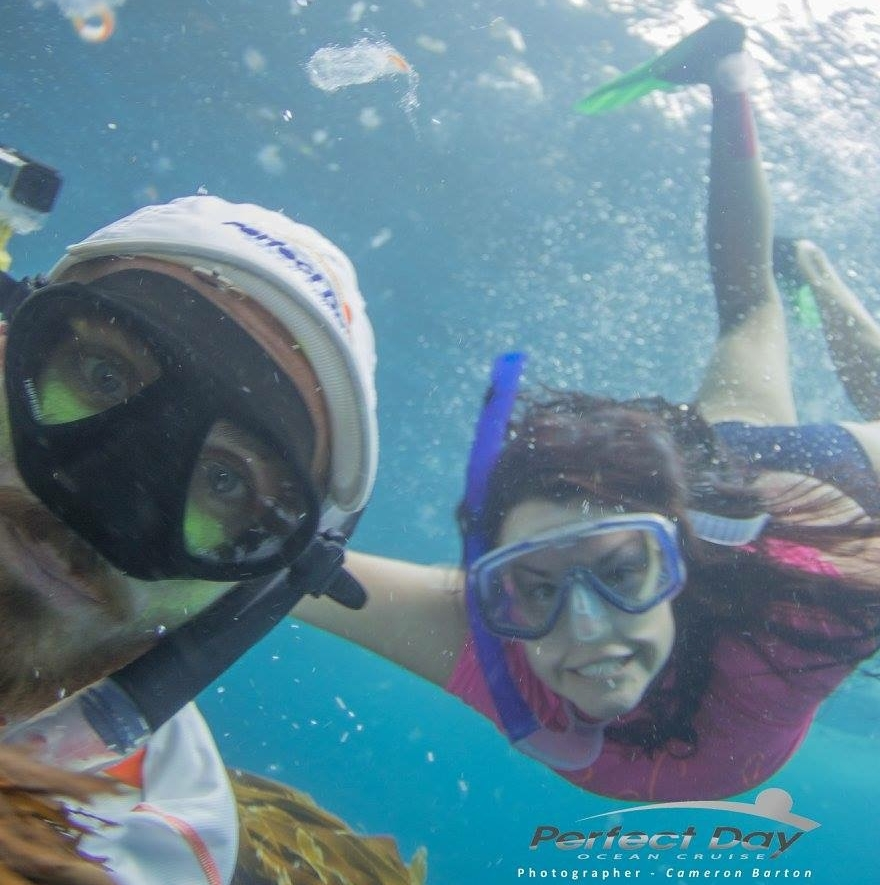 Taking snorkeling selfies is much harder than you would think!