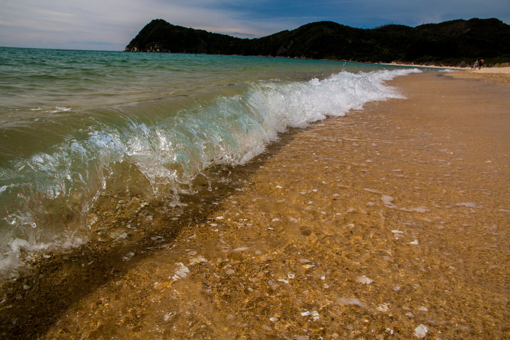 Waves at the Abel Tasman National Park - New Zealand