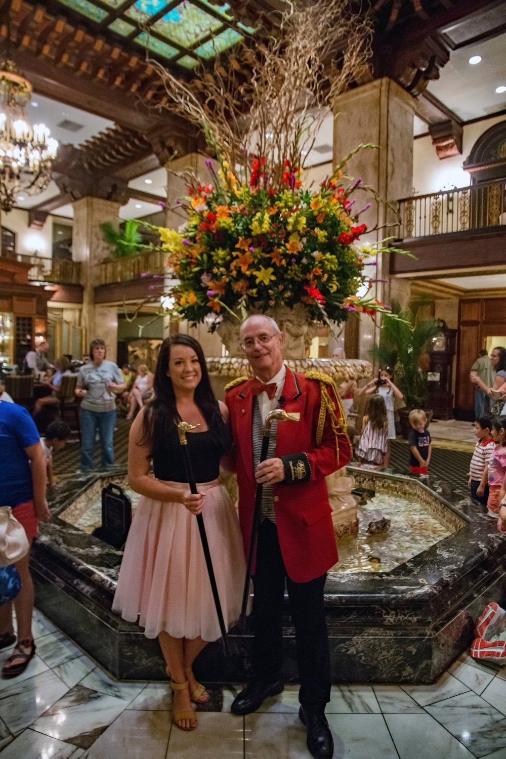 With the Duck Master at the Peabody Hotel - Memphis