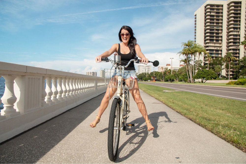 Riding my Hotel Bike on Bayshore Drive in Tampa