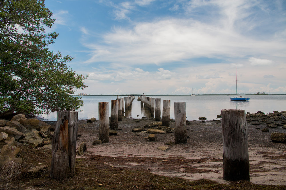 Old jetty in John Grant Hubbard Park