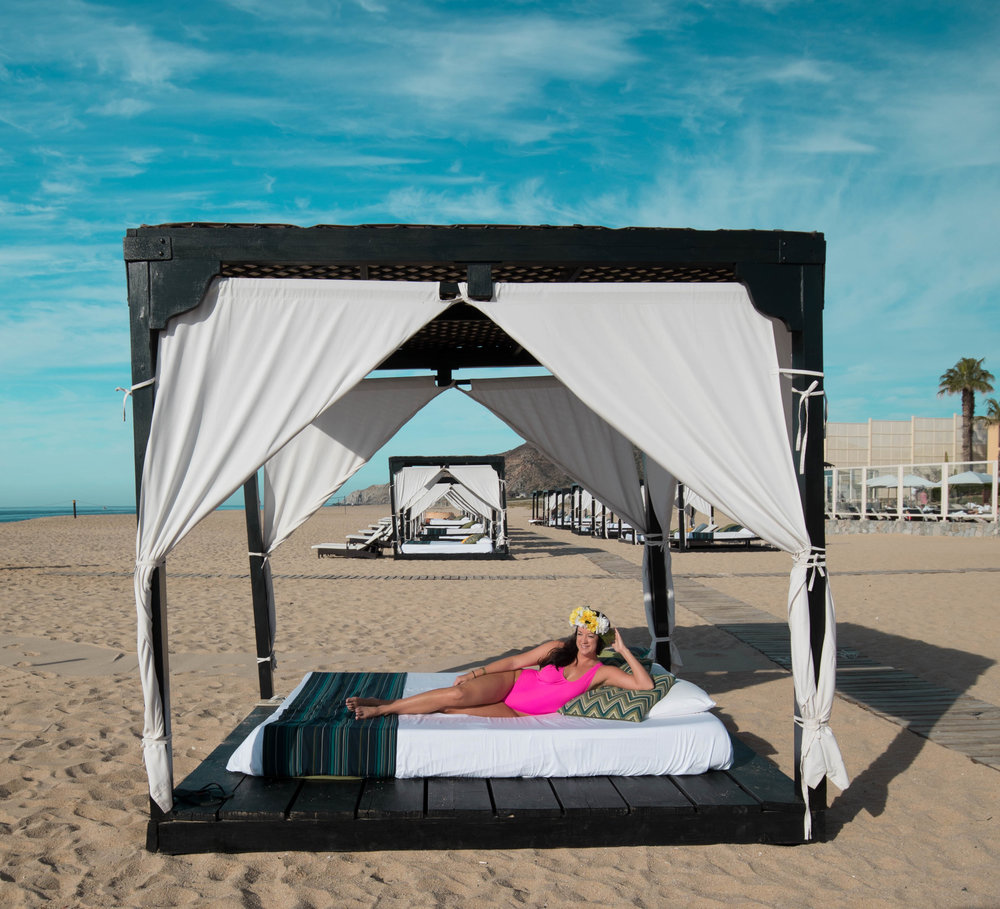 The beach cabanas!