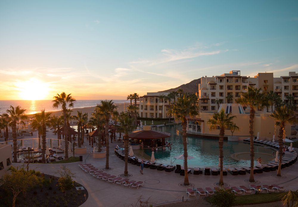 Sunset at Pueblo Bonito Pacifica Golf & Spa Resort