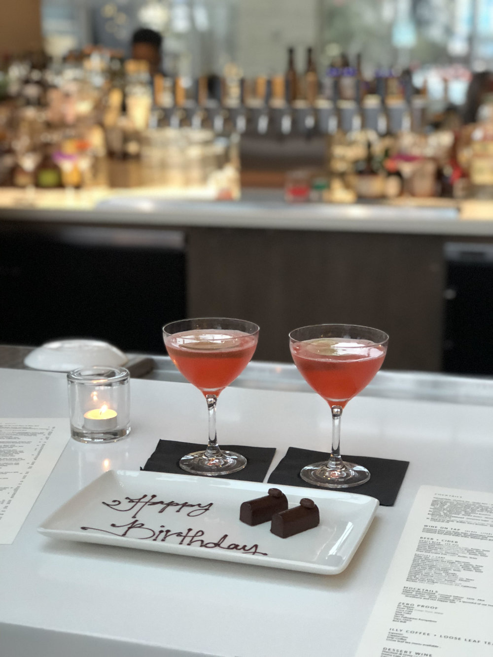 Cosmopolitans at Archer's Second Bar + Kitchen