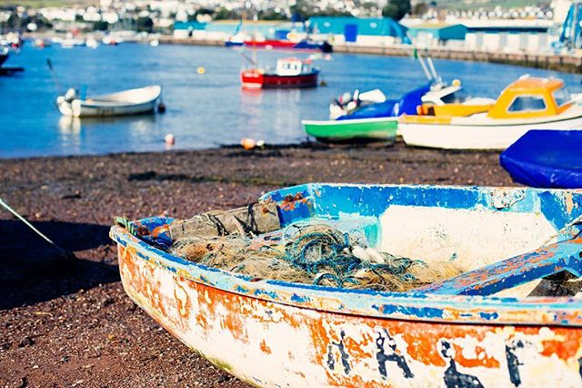 Fishing boats are one of my favourite things to photograph. I love that everyone is unique but together they create such a charming and cheerful array 🙂. #boats #harbour #port #fishingboats #sea #coast #devon #teignmouth #bythesea #seaside #ocean