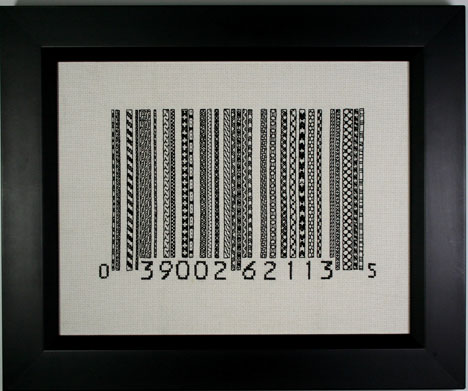 Blackwork Barcode, 2010, Rubi McGrory