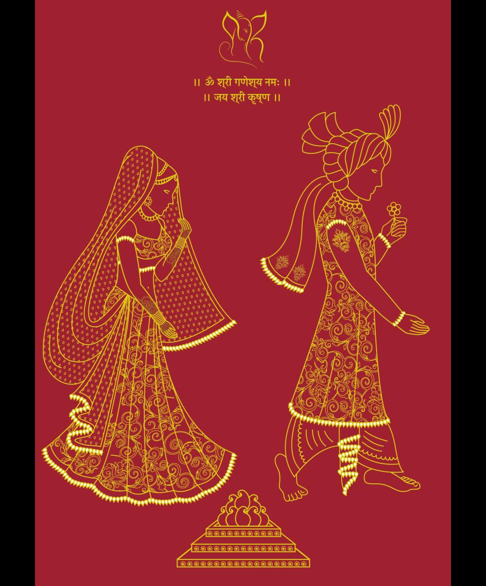 Bespoke indian wedding card