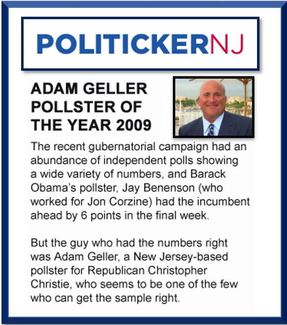 Politicker NJ Pollster of the year 2009