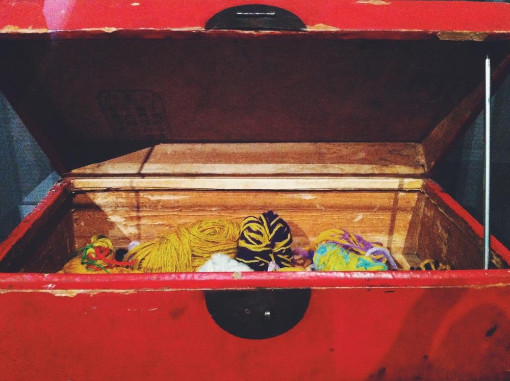 Van Gogh's box of coloured wool.