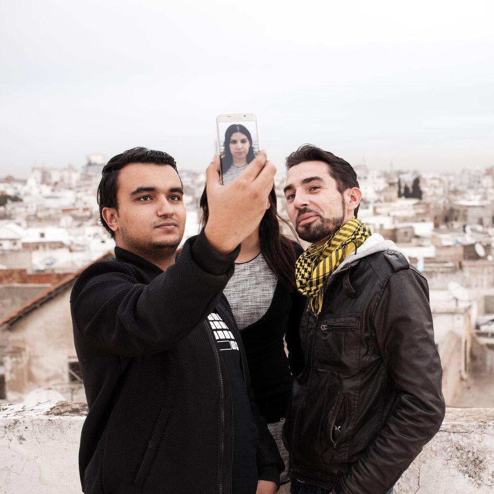 Skander, Lina & Sofiane, activistes tunisiens. Tunis. Pour Libération. 2016