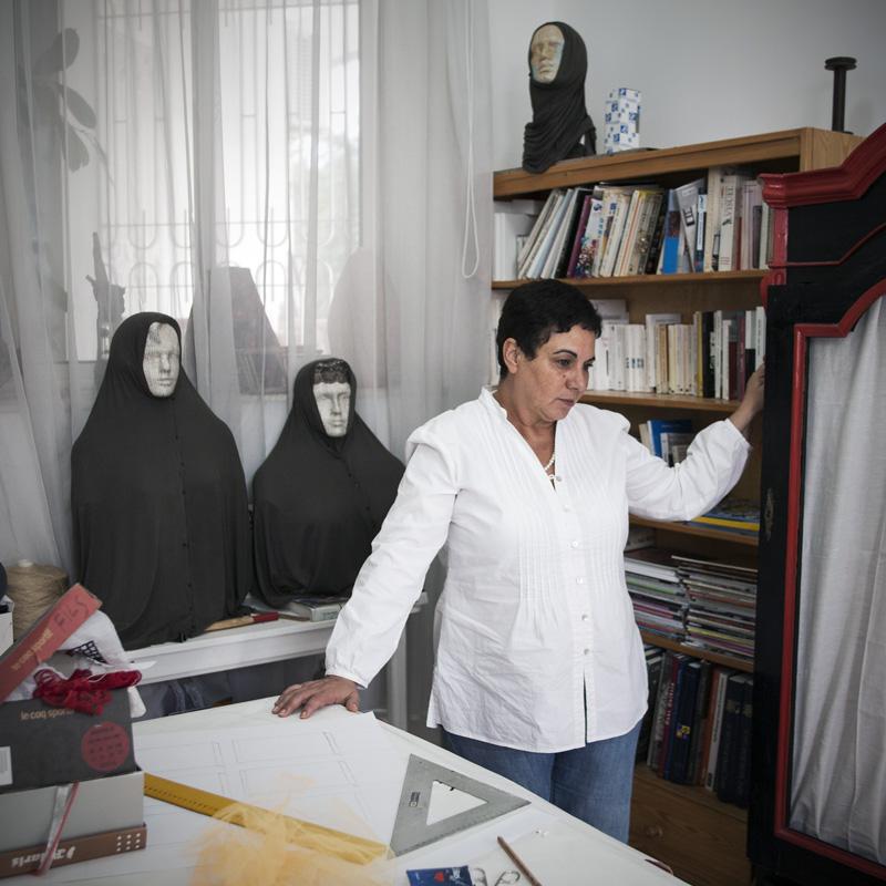 Nadia Jelassi. Artiste. Tunis.
