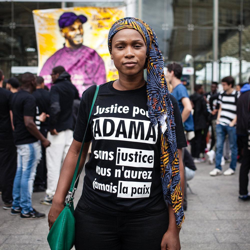 Assa Traoré, soeur de Adama Traoré. Paris. 2016.
