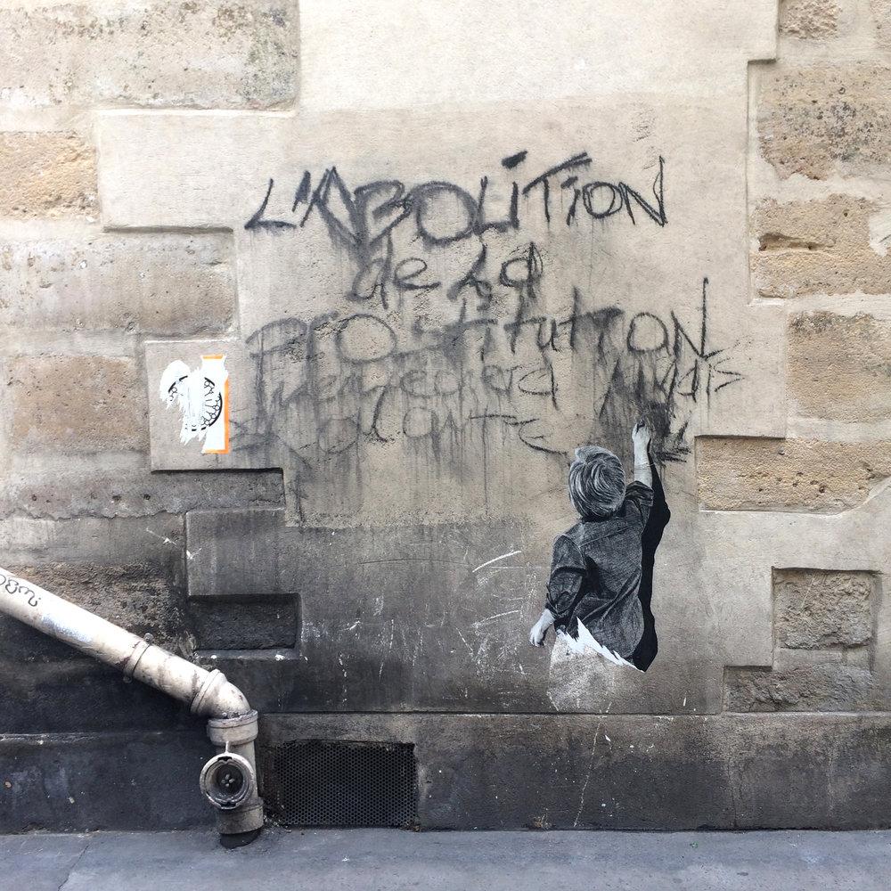 STREET IN PARIS. 2017.