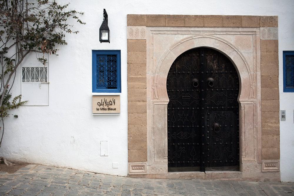 Maison de charme La Villa Bleue à Sidi Bou Saïd. Tunisie.