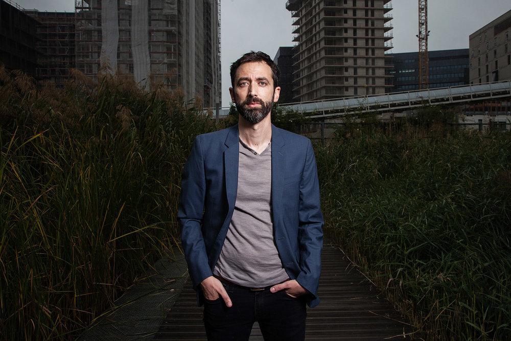 Gérald Andrieu, journaliste et écrivain, pour son livre, Le peuple de la frontière paru aux Editions du Cerf en Octobre 2017.