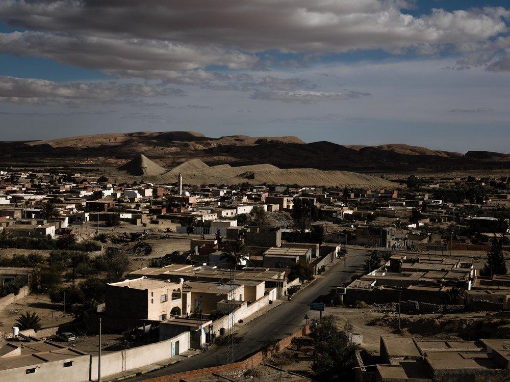 Ville de Redeyef dans la région du bassin minier de Gafsa. 2012.
