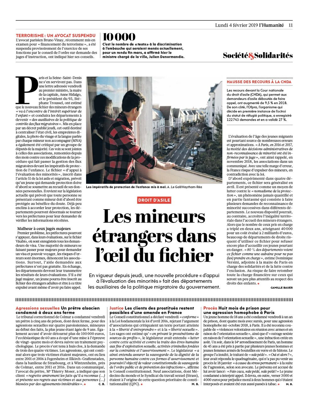 L'Humanité February 04, 2019,