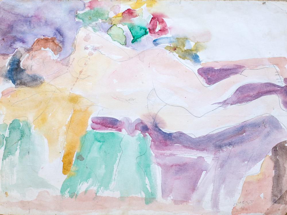 """""""Reclining Nude"""" by Janet De La Roche"""