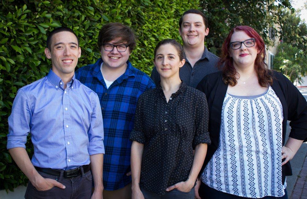 West committee in los angeles, l-r: Matt Latham, Chris Visser, Meaghan WIlbur, Matt Christensen, incoming president Kylee Pena