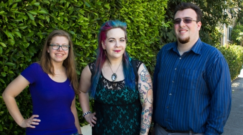 West coast coordinators, L-r: Ashley Mckinney, Katie toomey, noah diamond-stolzman