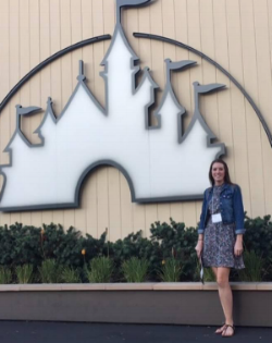 EditFest recipient hillary lewis on the disney lot in Burbank, california.