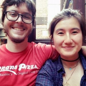 Abby (right) with her boyfriend, Josh.
