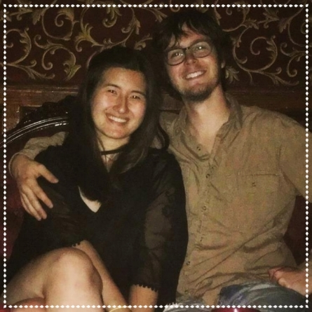 Josh & Abby at a Speakeasy bar in NY city, one week post moving.