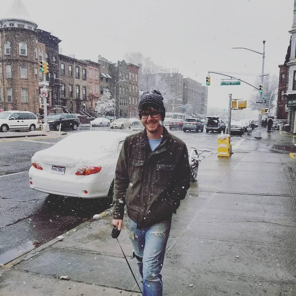 Josh and Abby experiencing snow in NY for the first time.