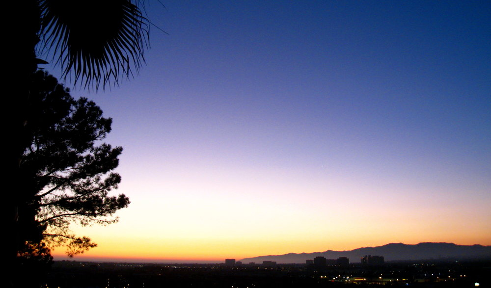 Matt's gorgeous sunset view at the edge of LMU bluff.