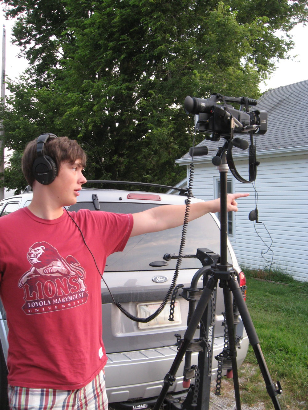 Matt working on a short film with friends during the summer after graduation, before leaving Omaha to attend film school in LA.