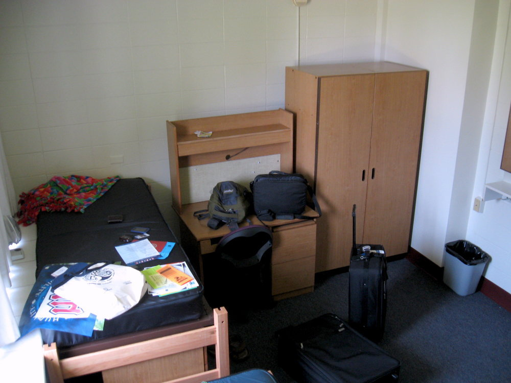 Matt's dorm room at LMU. A humble beginning while on his film journey.