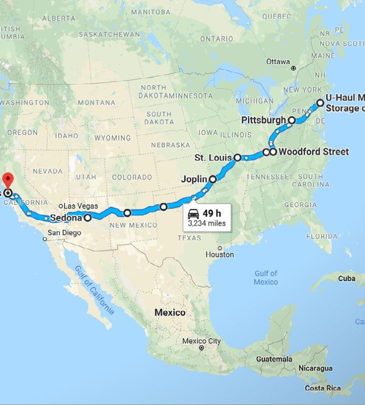 Michelle's route planned out!