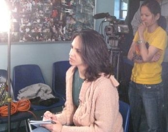 LYRA with her Brooklyn STUDENTS IN her VIDEO PRODUCTION AND EDITING class