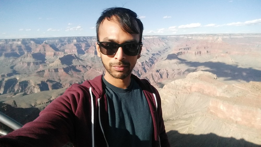 Ravi at the Grand canyon during his adventure to moving to LA.