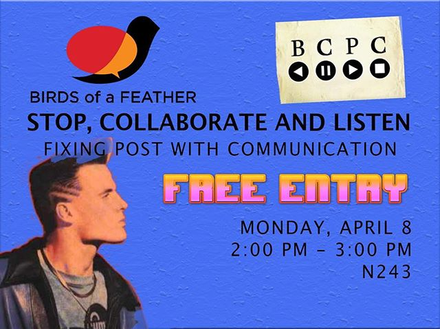 Going to #NABShow? Join us for a free, interactive workshop!  2pm Monday 4/8 Room N243 #FixItInPost #BirdsOfAFeather #postchat