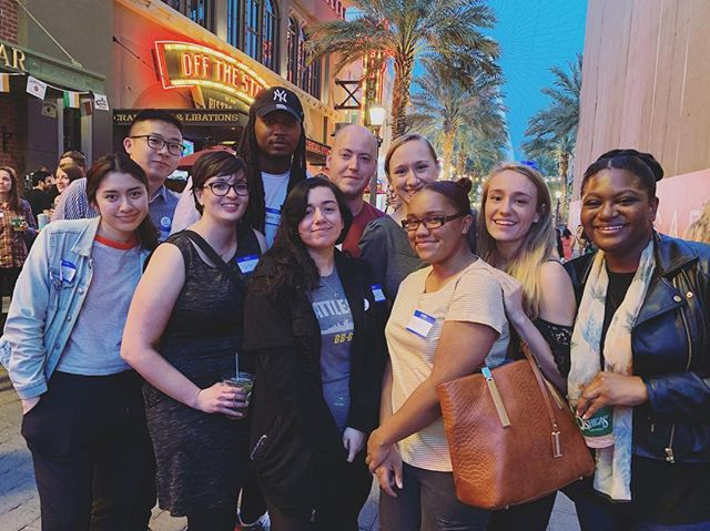 This year's Professional Development Accessibility Program recipients for NAB have made it to Las Vegas! We're so thrilled to facilitate access for hard-working professionals in post production who belong here.  Darrius Terrell (sponsored by Flanders Scientific) Myrtle McElroy (sponsored LaCie) Lisa Schaefer Grace Novak Courtney Lewis Leslye Orellana Jimmy Zhu Magaly Monterroso Sean Rogers Ayana Saunders  This is also a bittersweet moment, as this was the last group selected by our PDAP committee that included Norman Hollyn. We continue to be grateful for his inspirational impact on our industry which will continue to be seen for a long time. And thank you to the rest of the PDAP committee for your continuing contribution: Katie Hinsen, Jacqueline Basse, John Eremic, and Laura Pursley. — with Grace Novak and Ayana Saunders.