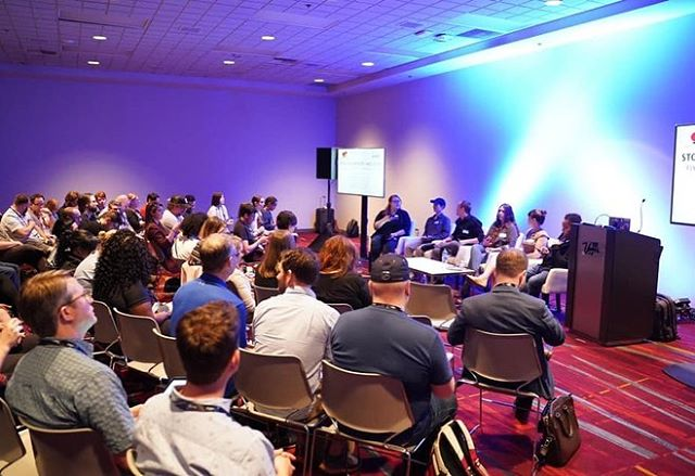 Thanks to everyone who came to our #NABShow panel today on fixing post with communication! (📷: Jimmy Zhu)